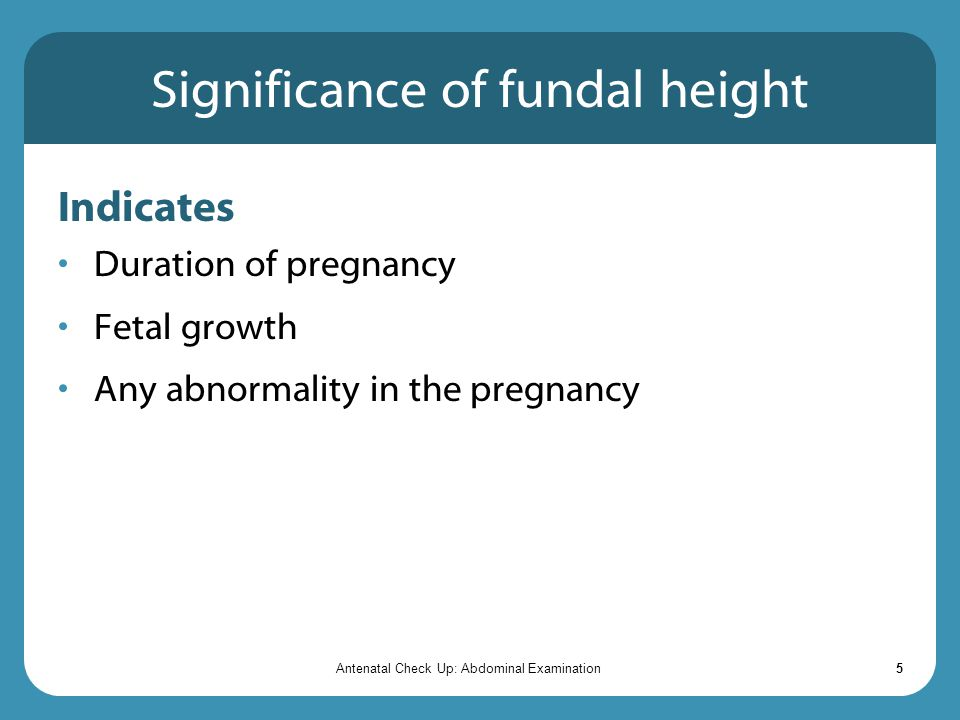 Significance of fundal height