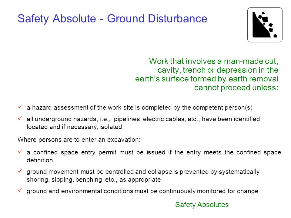 Safety Absolute - Ground Disturbance