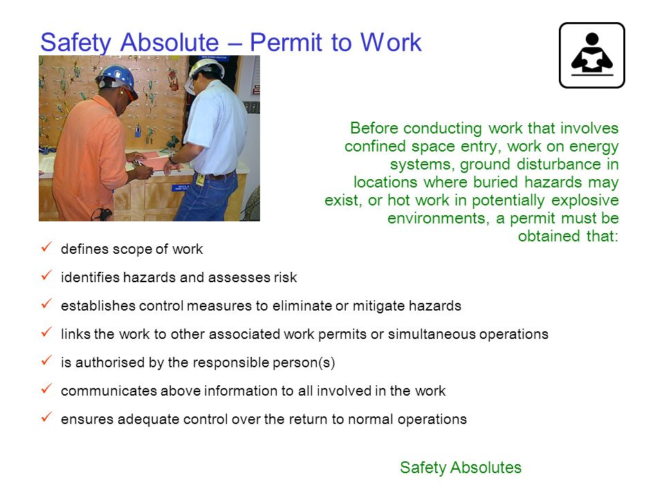 Safety Absolute – Permit to Work