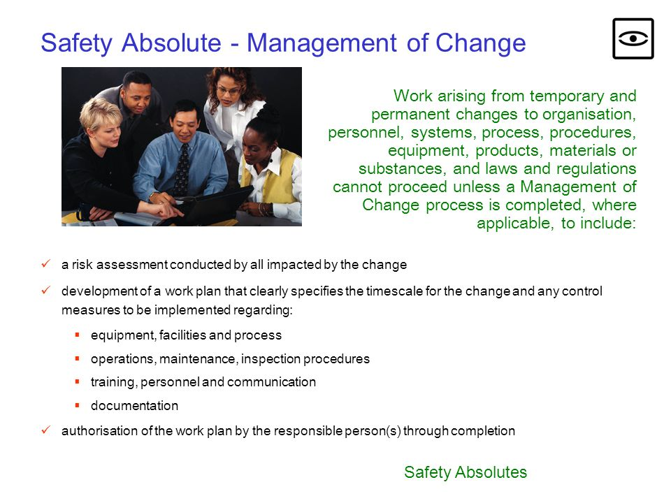 Safety Absolute - Management of Change