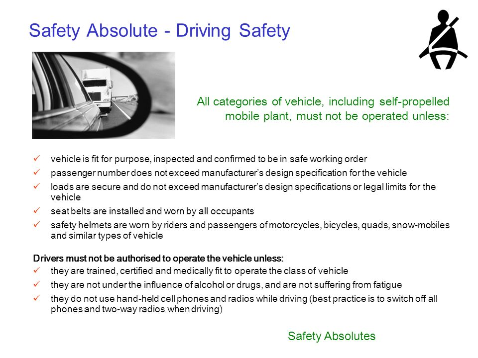 Safety Absolute - Driving Safety