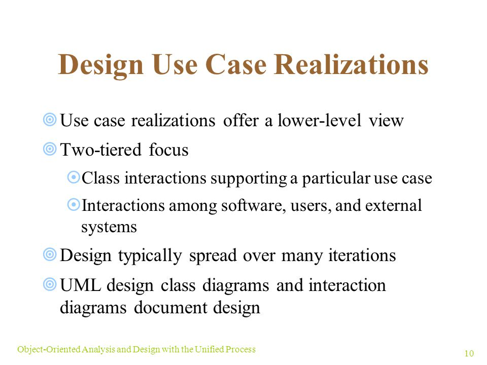 Design Use Case Realizations
