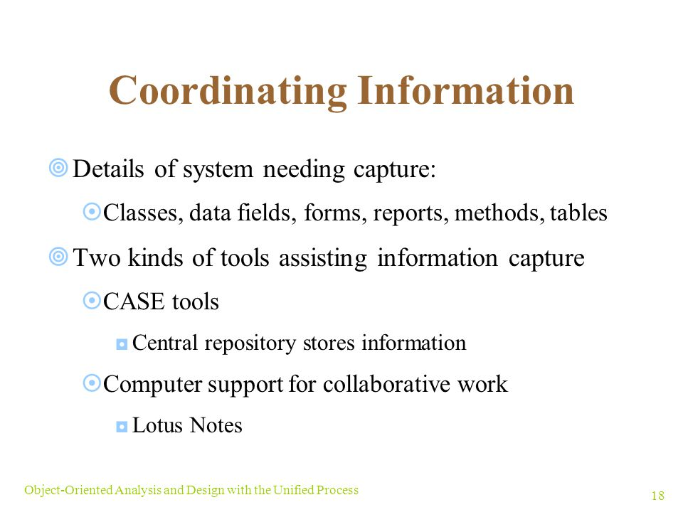 Coordinating Information