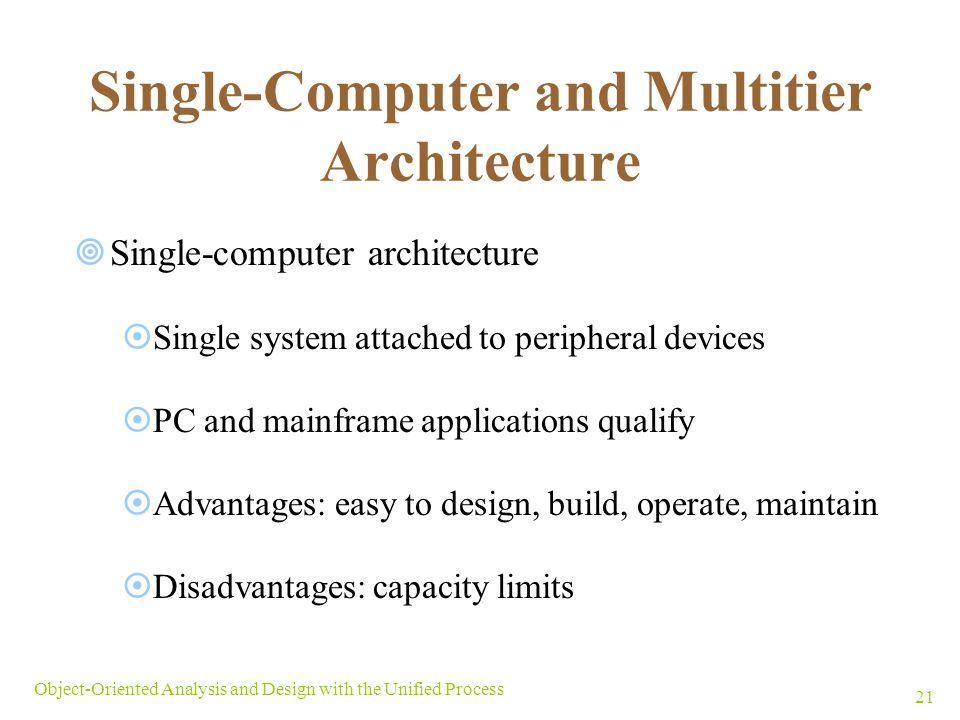 Single-Computer and Multitier Architecture