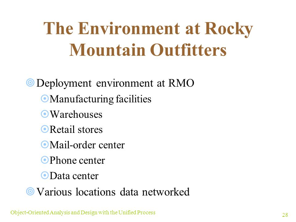 The Environment at Rocky Mountain Outfitters