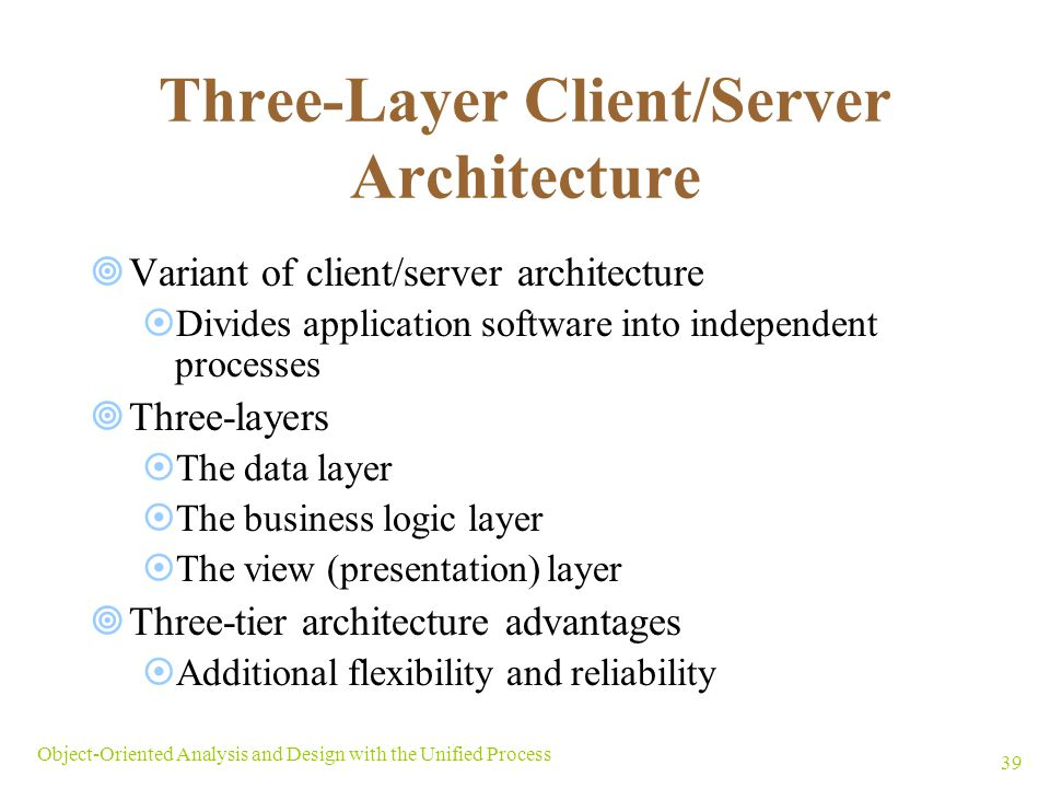 Three-Layer Client/Server Architecture
