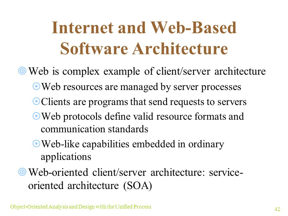 Internet and Web-Based Software Architecture