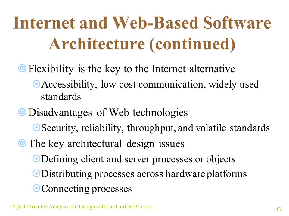 Internet and Web-Based Software Architecture (continued)