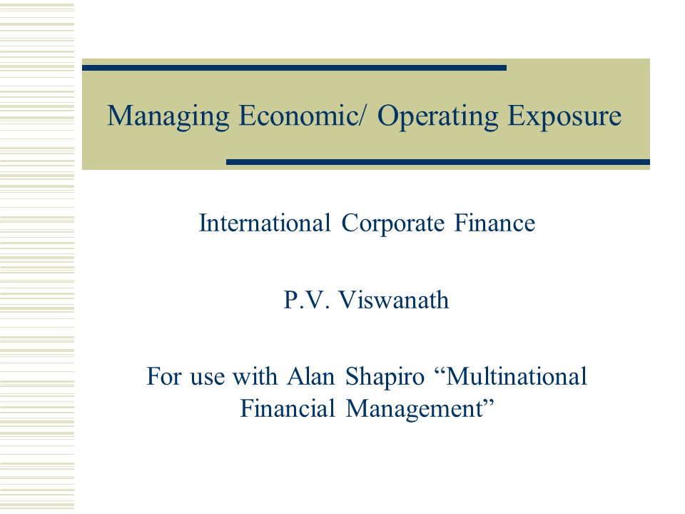 Multinational Financial Management : International Student Version