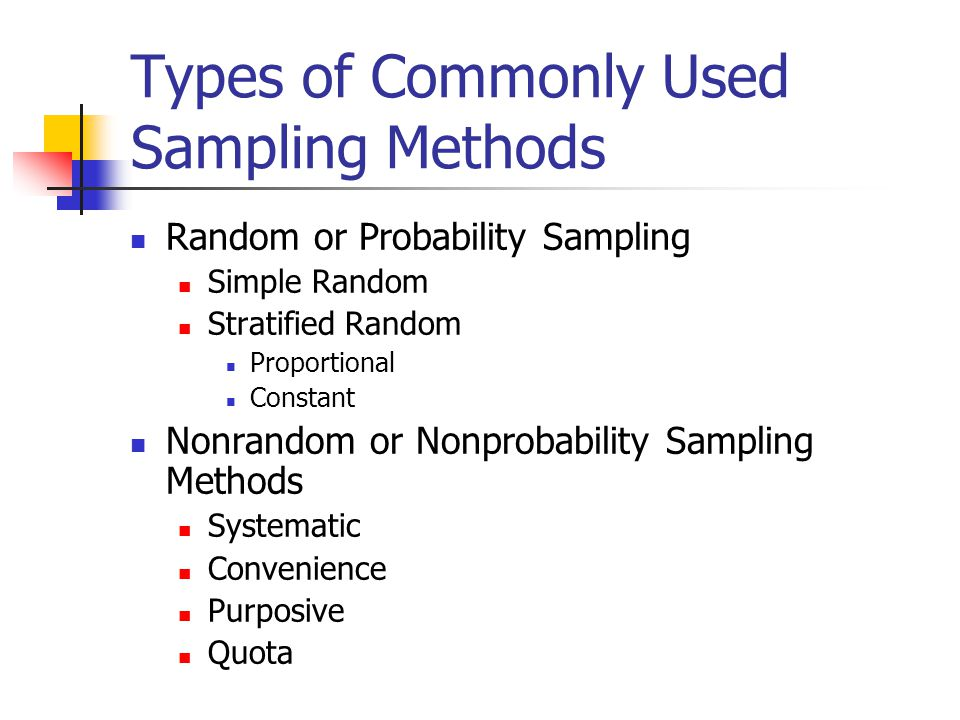 what is stratified sampling in research