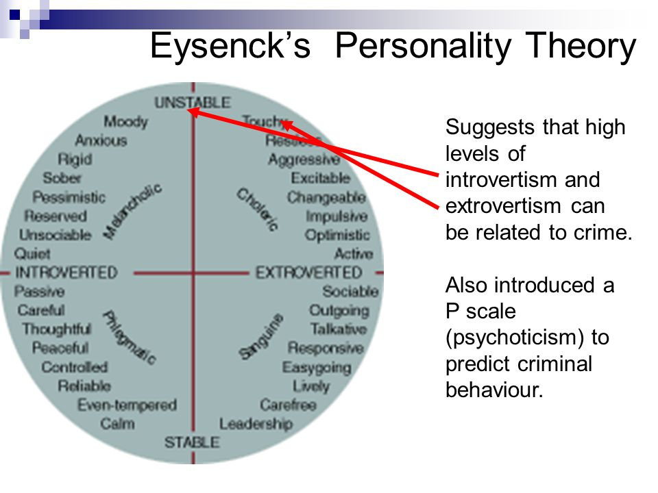 Evaluate the evidence for Eysenck's theory of personality - Assignment Example