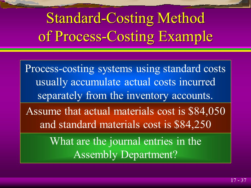 what is process costing the methods used Process costing is methodology used to allocate the total costs of production to  homogenous units produced via a continuous process that usually involves.