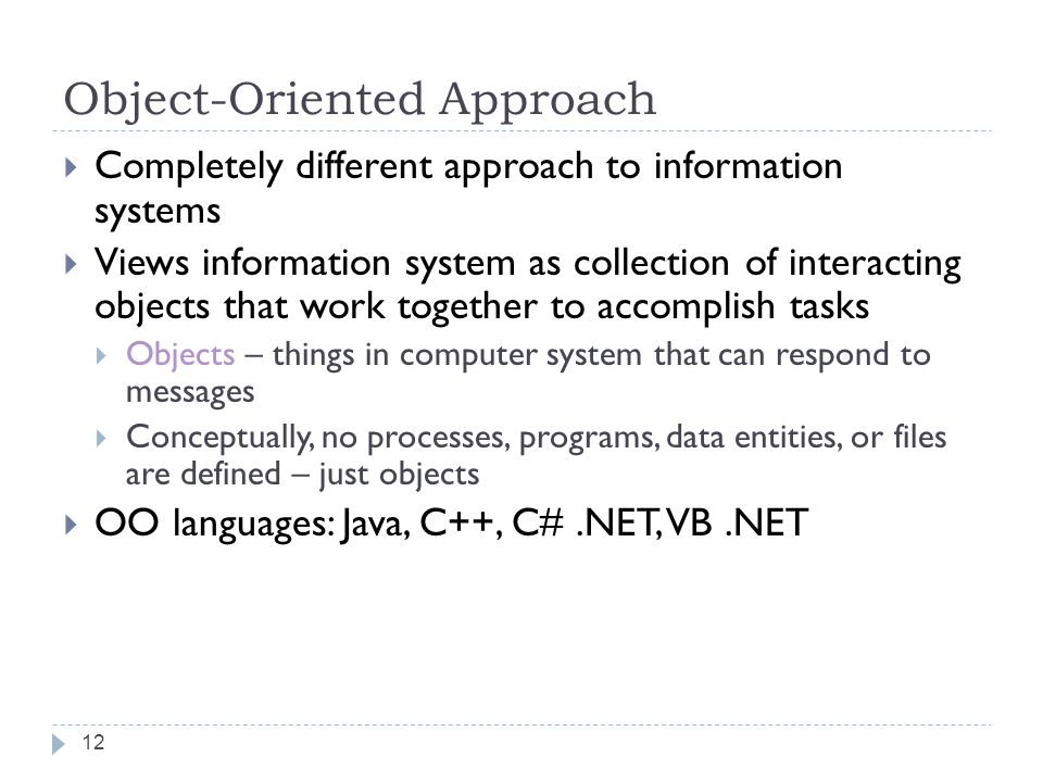 Object-Oriented Approach