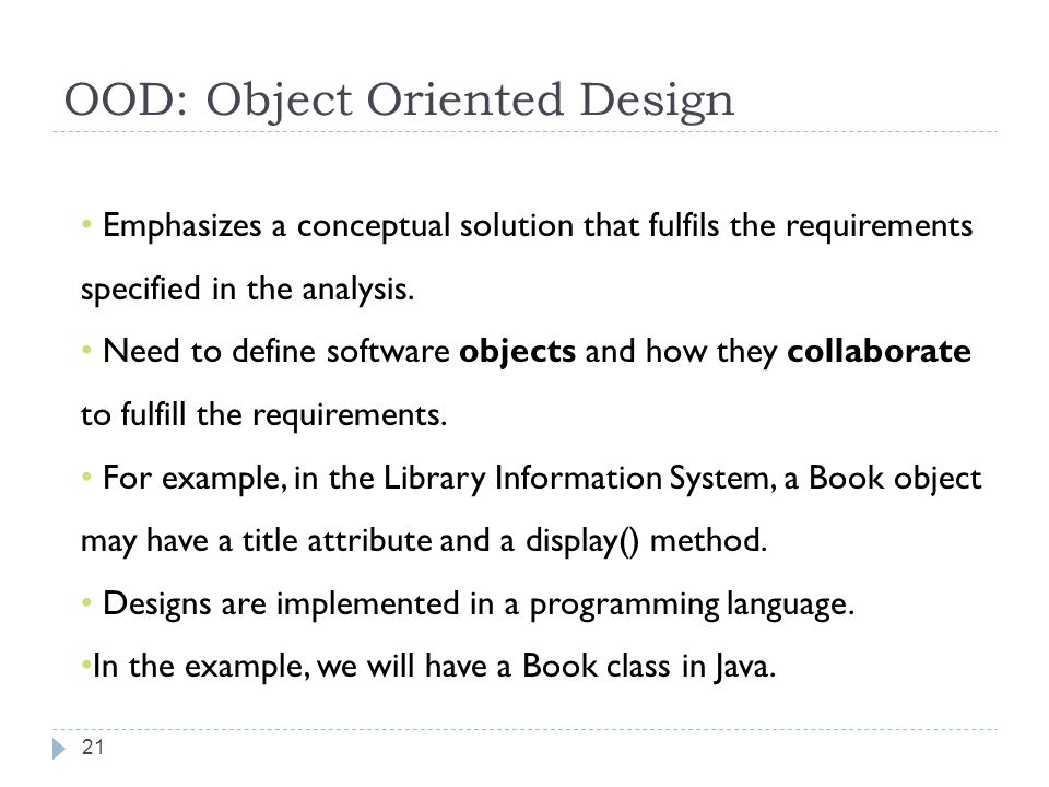 OOD: Object Oriented Design