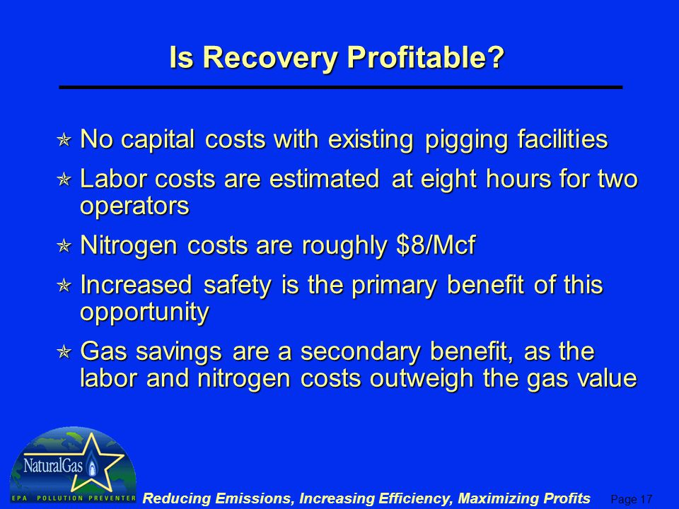Is Recovery Profitable