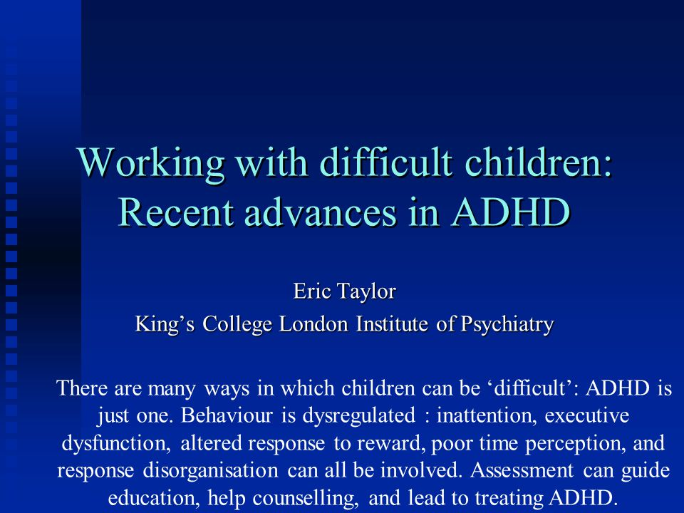 Just How Common Is Adhd Really New >> Working With Difficult Children Recent Advances In Adhd Ppt Video