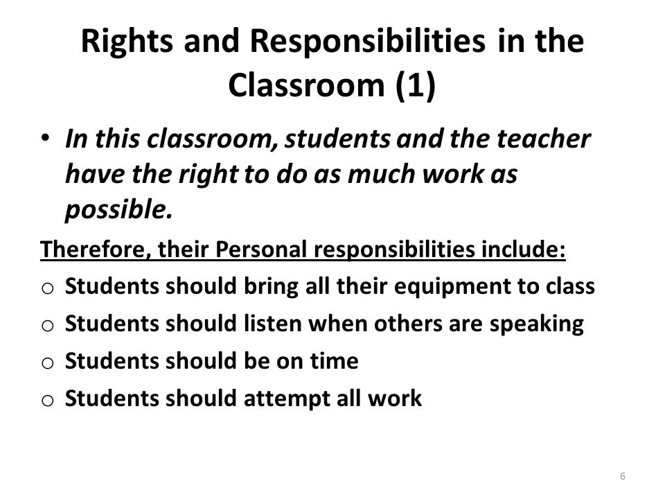 Rights and Responsibilities in the Classroom (1)