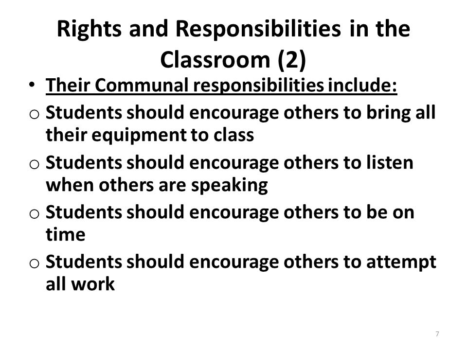 Rights and Responsibilities in the Classroom (2)