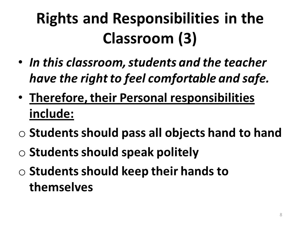 Rights and Responsibilities in the Classroom (3)
