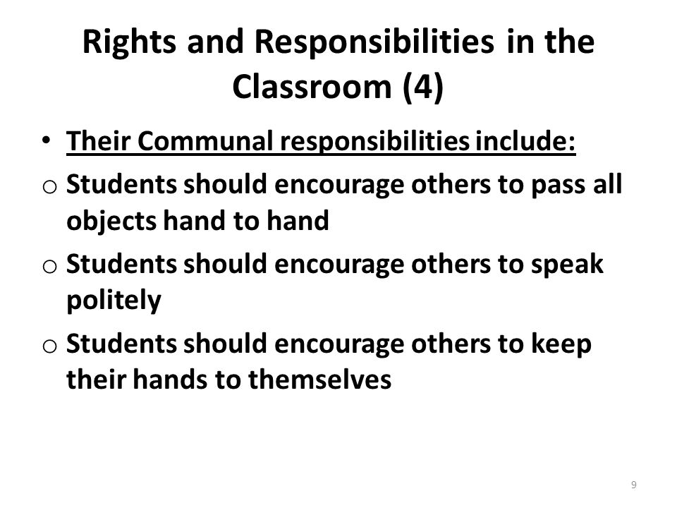 Rights and Responsibilities in the Classroom (4)