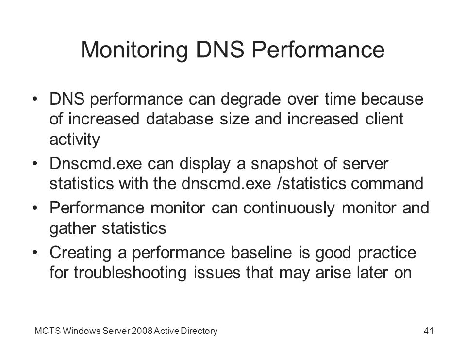 Monitoring DNS Performance