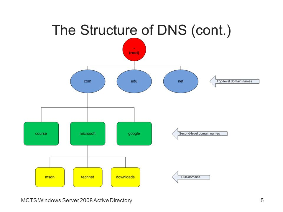 The Structure of DNS (cont.)