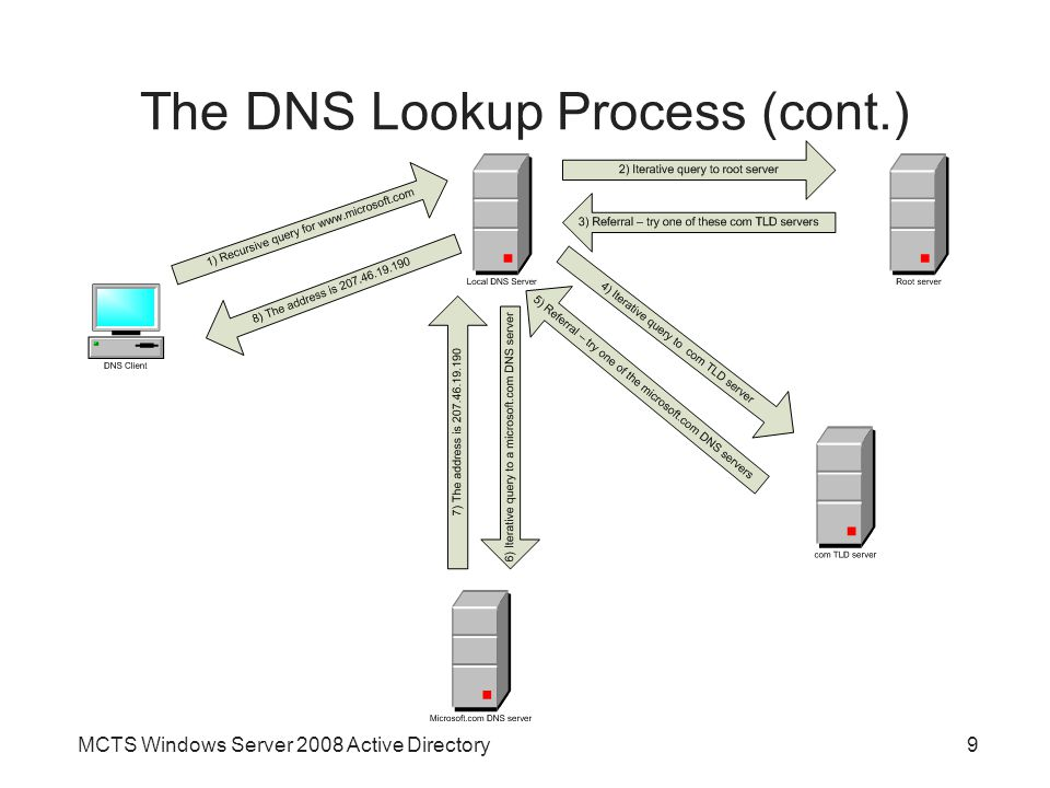 The DNS Lookup Process (cont.)