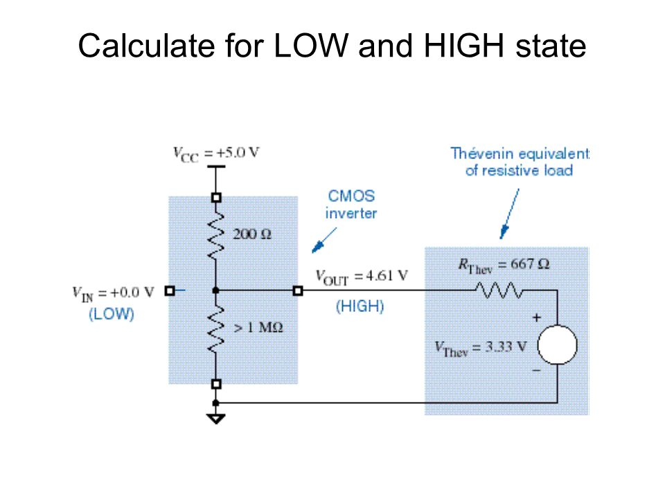 Calculate for LOW and HIGH state