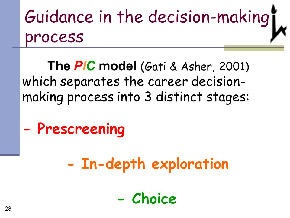 decision making process for university choice The cognitive process of decision making yingxu wang, university of  the cognitive process of decision making is  making the axiom of selection (or choice).