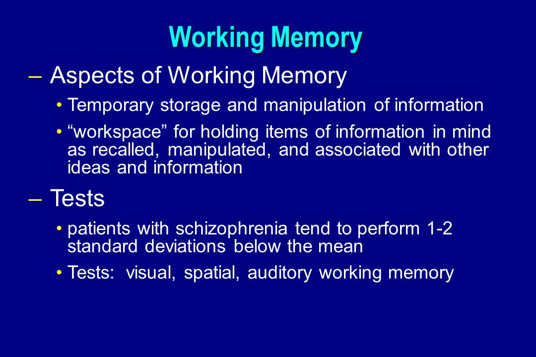Aspects of memory