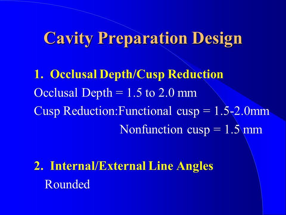 Cavity Preparation Design