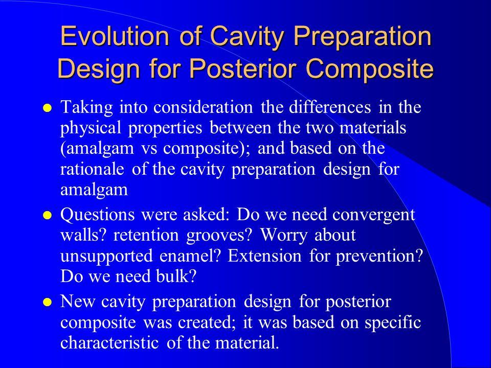 Evolution of Cavity Preparation Design for Posterior Composite