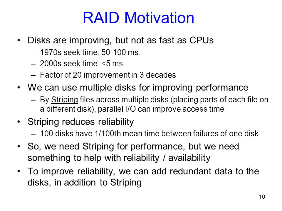 the importance of fast reliable disk performance The performance of a hard disk is very important to the overall speed of the system – a slow hard disk having the potential to hinder a fast processor like no other system component – and the effective speed of a hard disk is determined by a number of factors chief among them is the rotational speed of the platters.