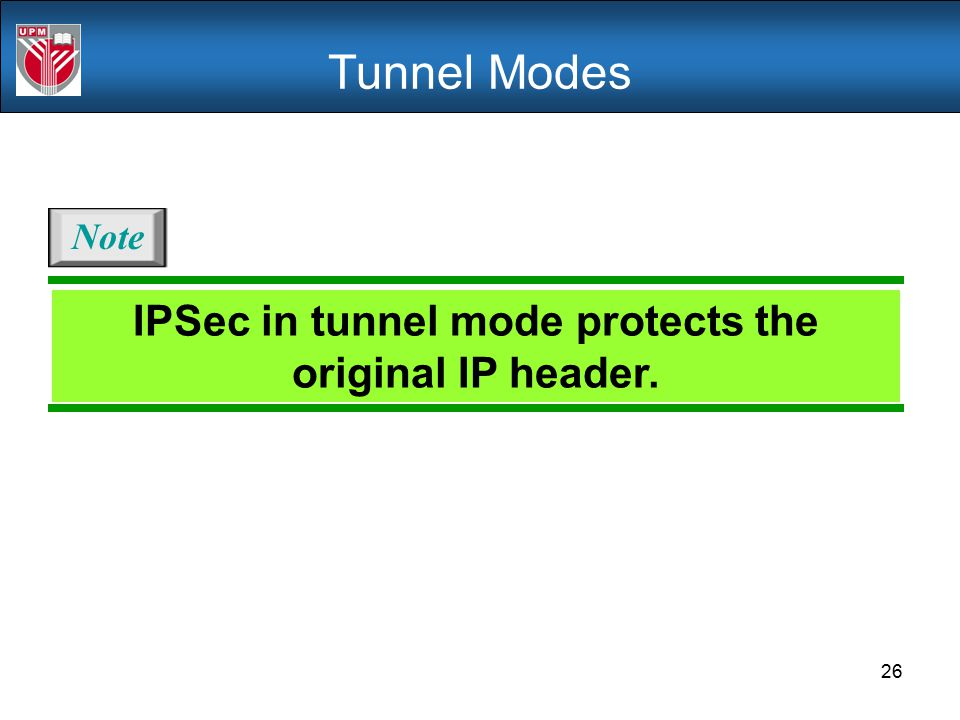 IPSec in tunnel mode protects the original IP header.