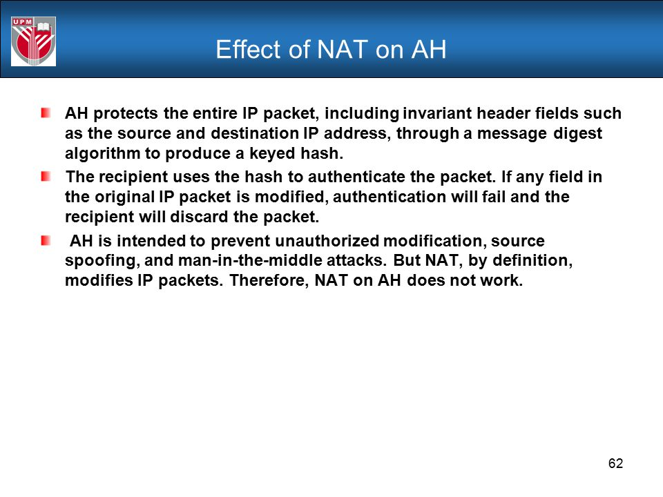 Effect of NAT on AH