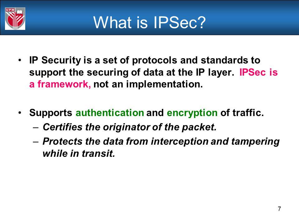 What is IPSec