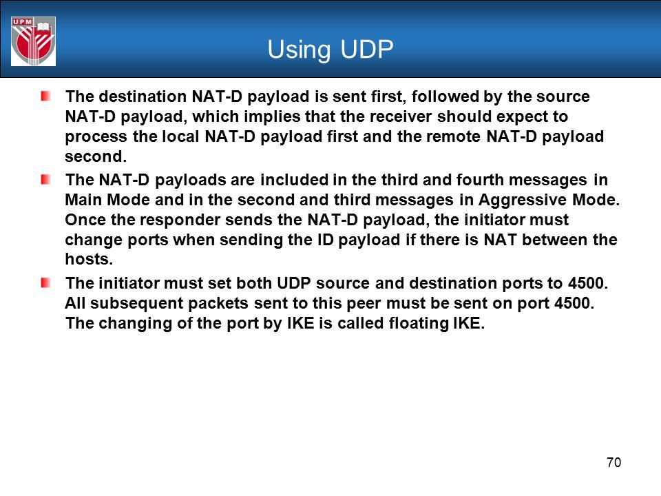 Using UDP