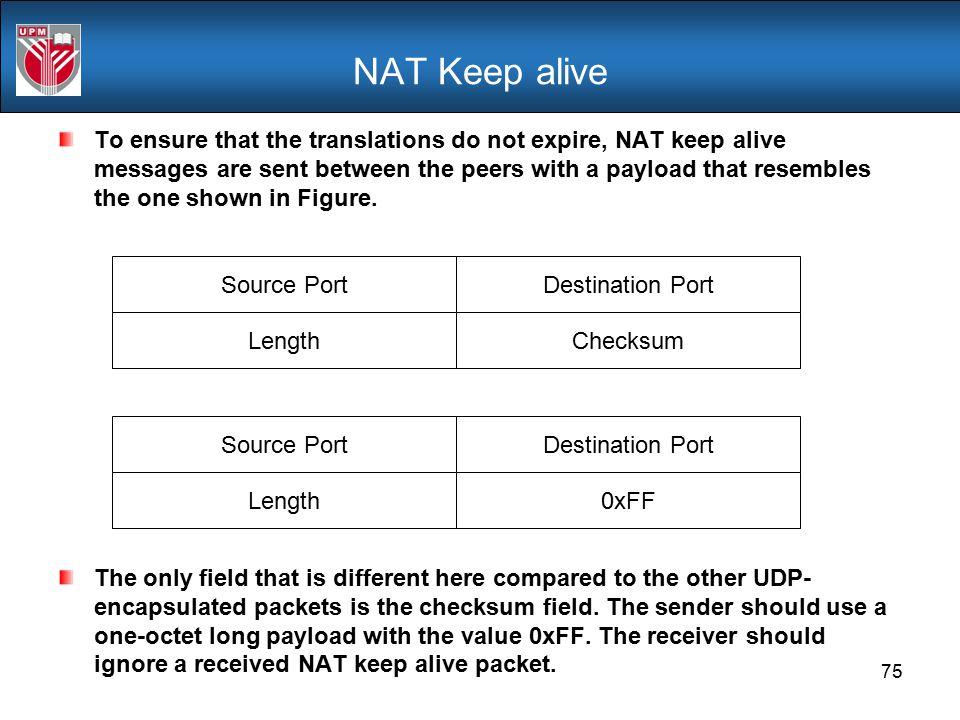 NAT Keep alive