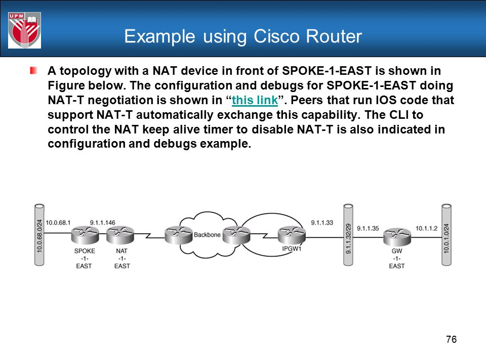 Example using Cisco Router