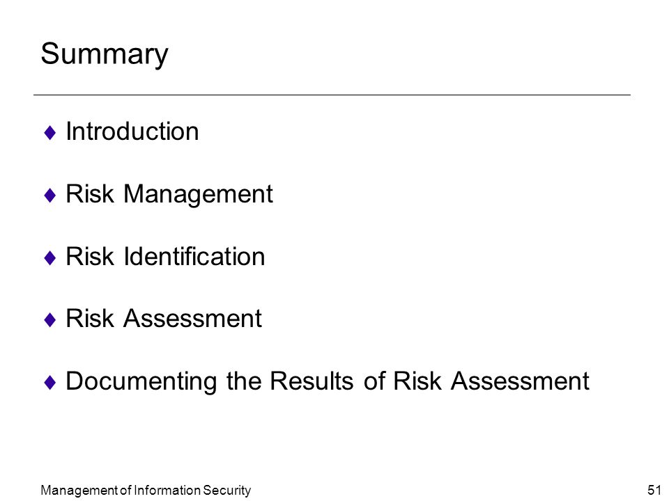 an introduction to recreational risk management and security control Introduction planning, implementing, and evaluating an intervention can be a  youth risk behavior surveys (see  additional resources for details.