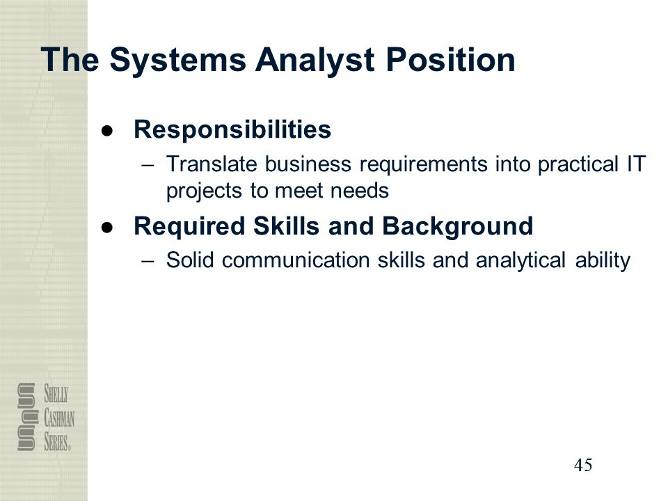 Business Analytics / Information Systems