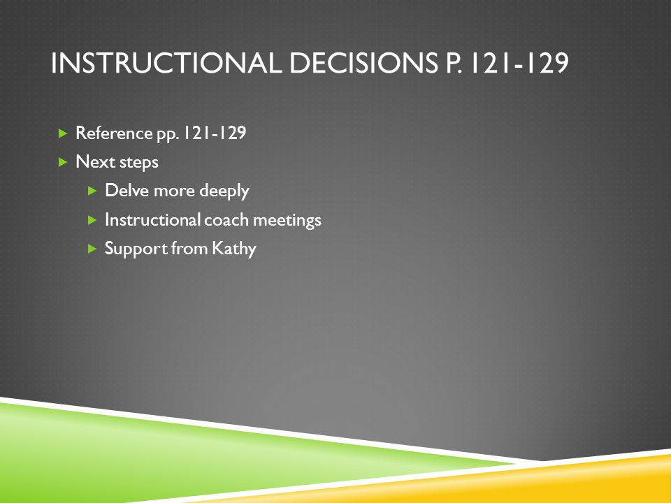 Instructional Decisions p