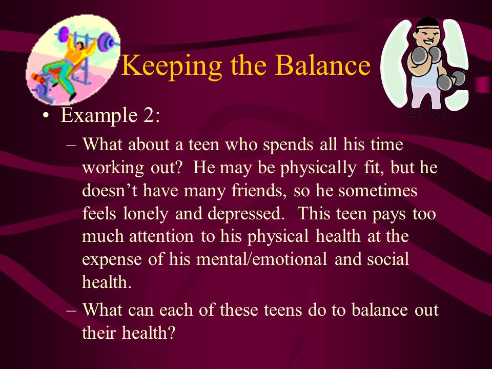 Keeping the Balance Example 2: