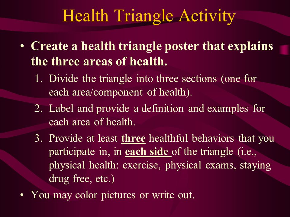 Health Triangle Activity