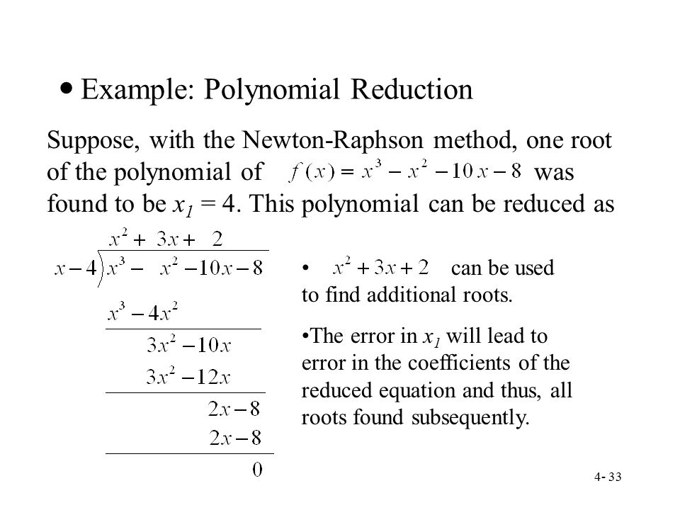 Example: Polynomial Reduction