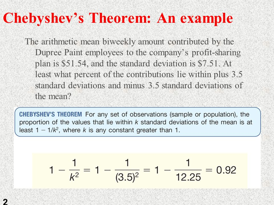 chebyshev's theorem and the empirical rule Toggle screen reader support.