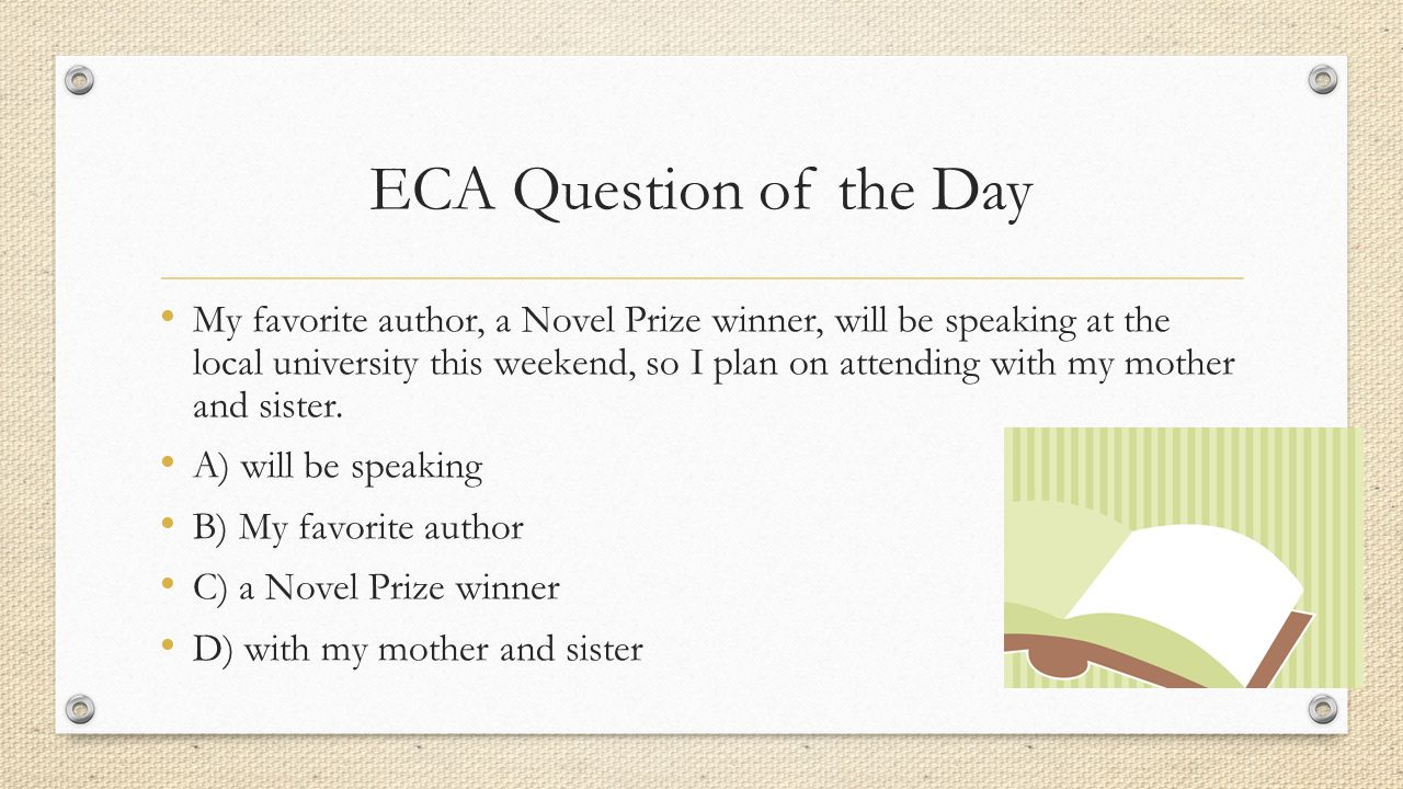 ECA Question of the Day