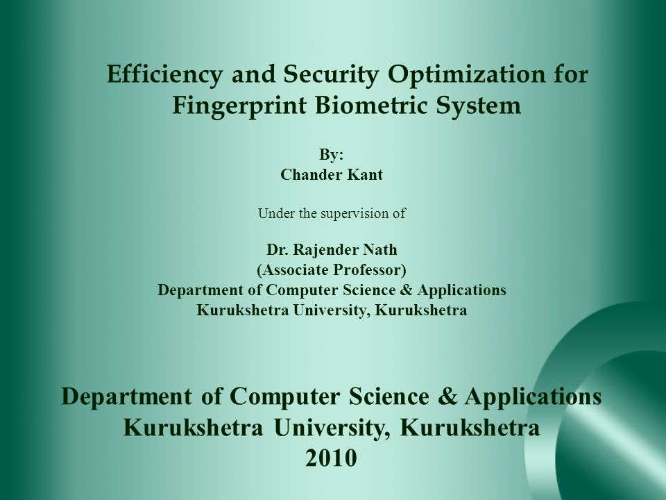 Efficiency and Security Optimization for Fingerprint Biometric System