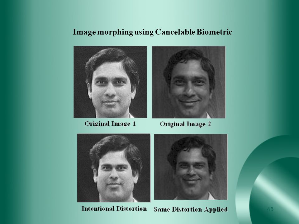 Image morphing using Cancelable Biometric