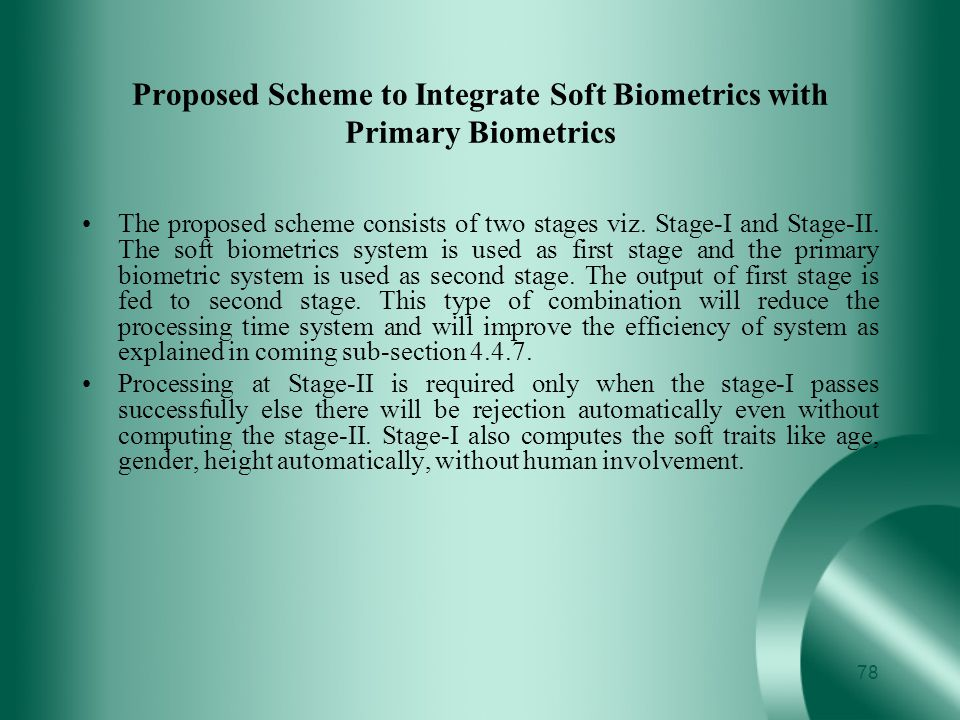 Proposed Scheme to Integrate Soft Biometrics with Primary Biometrics